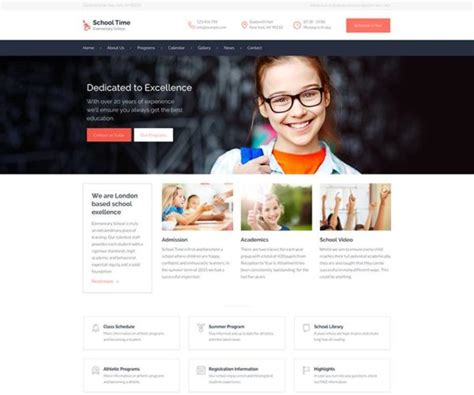 theme education time elementary education wordpress theme wpexplorer
