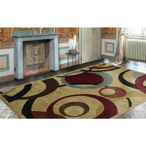 10 ft contemporary rugs ottomanson contemporary abstract beige 8 ft x 10 ft area