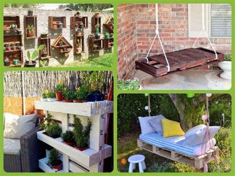 jardines con palets decorar jardines con palets