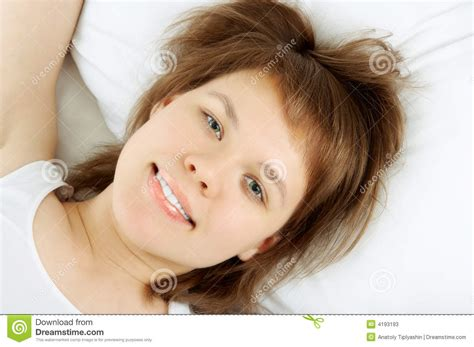 lie in bed young woman lie in bed stock photos image 4193193