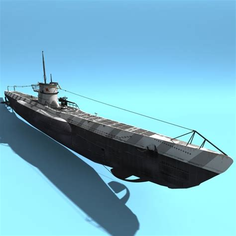 types of model boats 3d type viic u boat