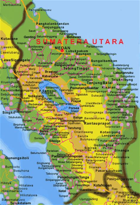 takjub indonesia peta propinsi sumatra utara