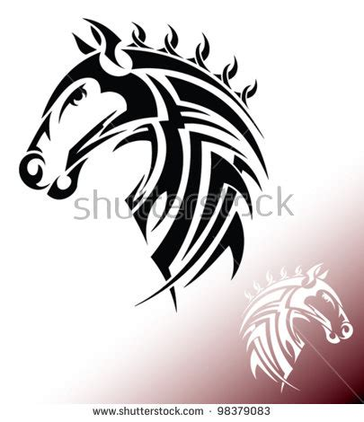 tribal horse head tattoos tribal tattoos