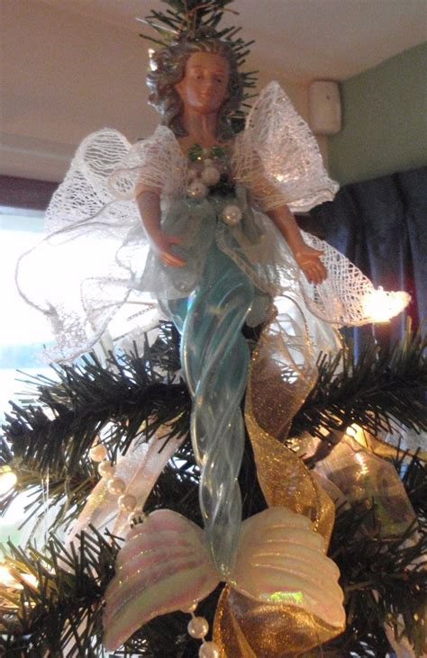 coastal christmas mermaid tree topper christmas mele
