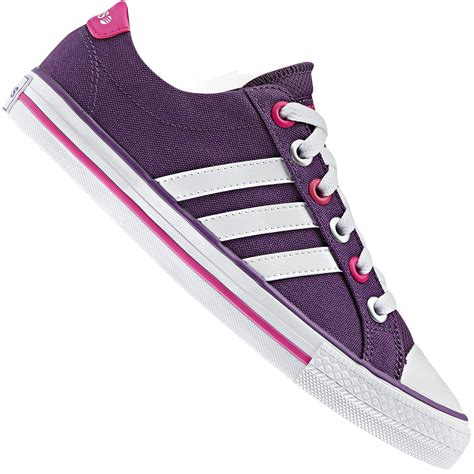 adidas neo label canvas vl 3 stripes trainers lifestyle shoes purple pink white ebay