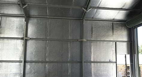 Wall Insulation For Sheds by Air Cell Insulshed 50 Shed Insulation Kingspan Australia