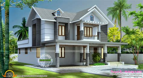 beautiful home design beautiful 2545 sq ft home design kerala home design and