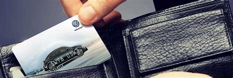 official volkswagen service credit card genuine vw service  parts