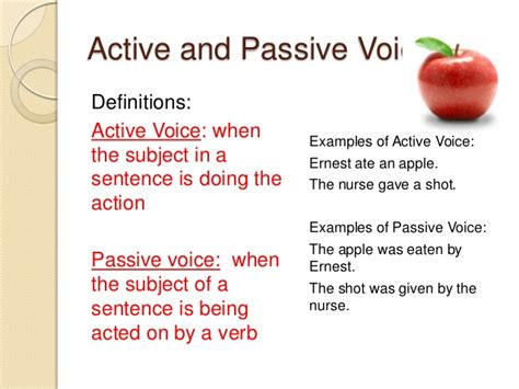 Active Voice In Essay Writing Means by Graded Portillo Project Language Guide