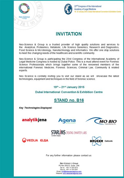 Scientific Conference Invitation Letter qatar scientific company scientific equipment company in