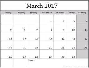 march calendar template march 2017 free printable calendar printable