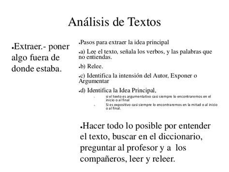 analisis de textos en razonamiento verbal an 225 lisis de textos