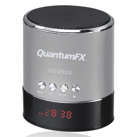 Speaker Multimedia Usb D 015 quantum fx portable multimedia speaker with usb micro sd port and fm radio silver tvs