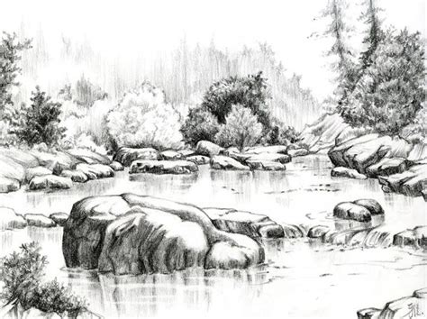 25 best ideas about landscape drawings on