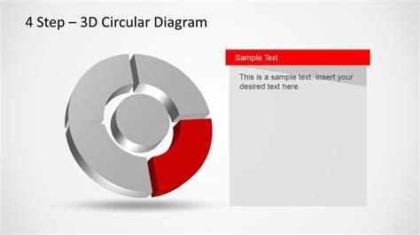 4 step 3d circular diagram template for powerpoint 4 step 3d circular diagram template for powerpoint