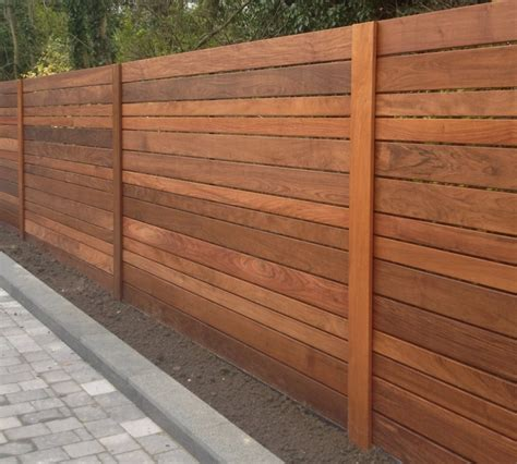 horizontal wood fence image of horizontal fence panels style secret garden