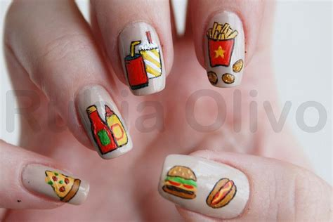 fast food nail art nails i looooove pinterest