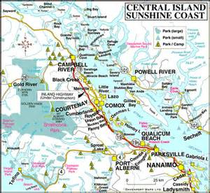 map of central vancouver island columbia travel