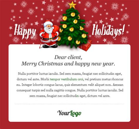 17 Beautifully Designed Christmas Email Templates For Marketing Your Products Designbeep Greeting Email Template
