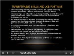 Transferable Skills Cover Letter Exle by Transferable Skills On A Resume