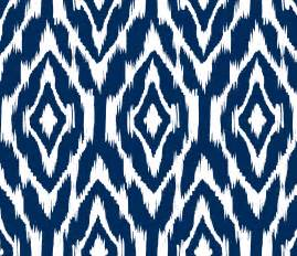 Grey Chevron Upholstery Fabric Ikat Print Fabric By The Yard Navy And White