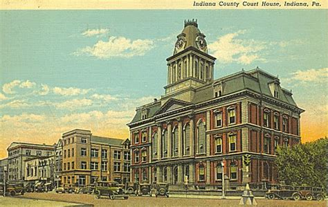 Iup Post Office by Indiana County Court House 1940