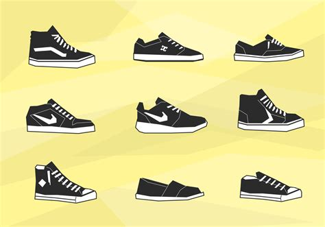 mens shoes icons free vector stock