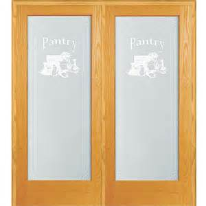 Decorative Glass Pantry Doors by 62 In X 81 75 In Pantry Decorative Glass 1 Lite