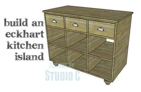 a and easy to build kitchen island designs by studio c