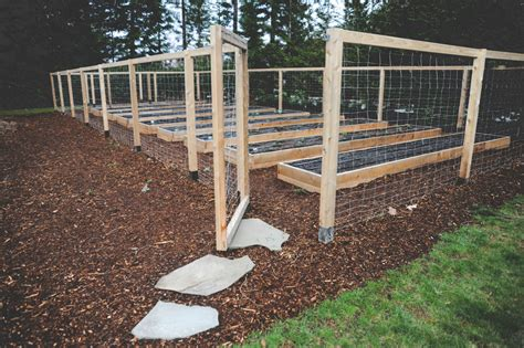 raised garden bed with fence raised bed perennial garden seattle urban farm company
