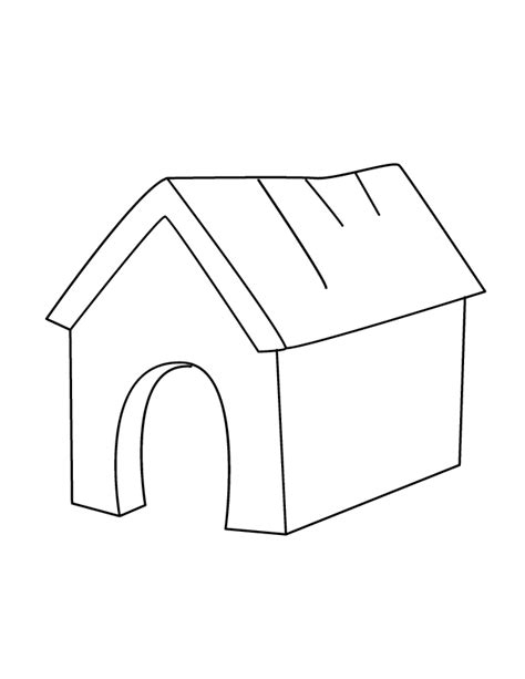 In Doghouse Colouring Pages sketch template