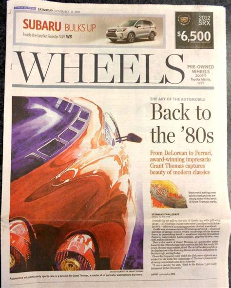 toronto star auto section ferrari art of grant thomas article in the toronto star