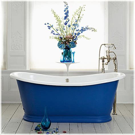 blue bathtub paint your bath tub a bright colour houseandhome ie