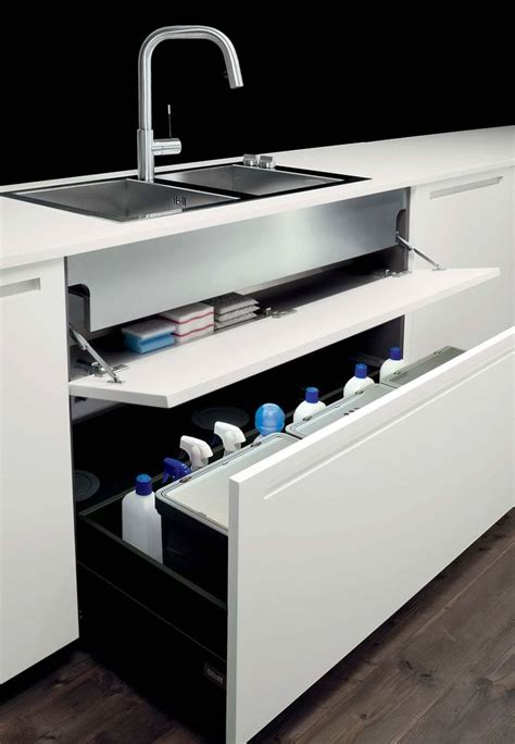 under kitchen sink storage boffi storage drawers under the sink kitchen ideas