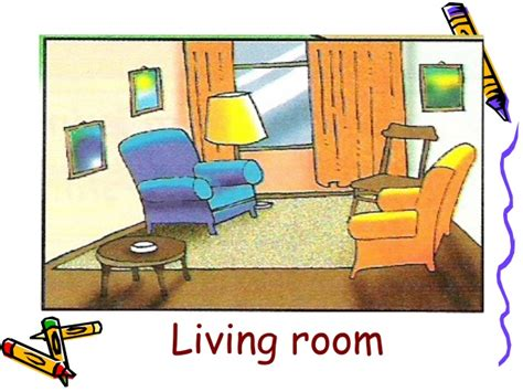Living Room Parts by Living Room Clipart Different Part The House Pencil And