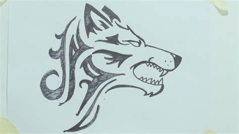 how to draw traditional tattoos how to draw wolf my crafts and diy projects
