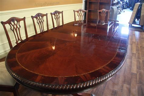 large oval mahogany double pedestal dining room table with oval double pedestal dining table american made