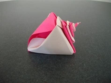 Origami Conch Shell - conch shell by wolfcreativity on deviantart