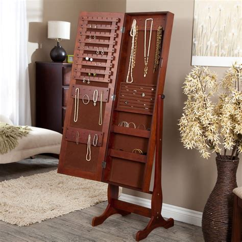 cherry jewelry armoire mirror i want this heritage cherry jewelry armoire cheval