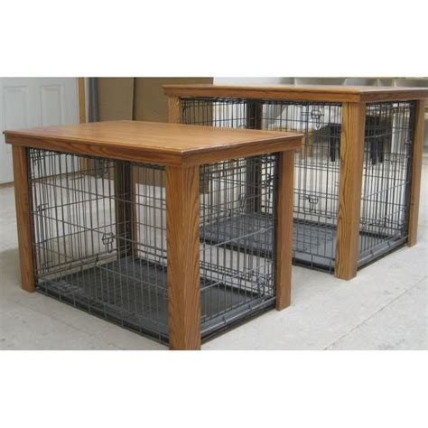 diy dog crate table top wooden table dog crate cover creative crafty