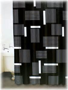 Black And White Bathroom Shower Curtain Black And White Shower Curtain Set Decor Ideasdecor Ideas