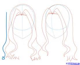 step by step hairstyles to draw girl anime hair drawing visuals pinterest anime hair