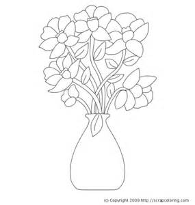 coloring pages of vase with flowers best photos of vase pattern color page flower vase