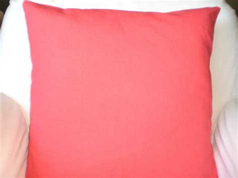 Coral Pillow Covers by Solid Coral Pillow Covers Decorative Throw By Fabricjunkie1640