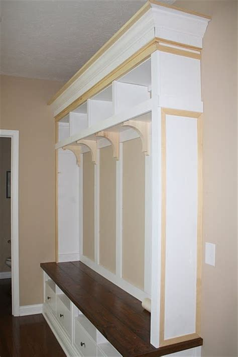 Foyer Unit by Mudroom Entryway Diy Storage Bench Unit With Ikea Tv Stand