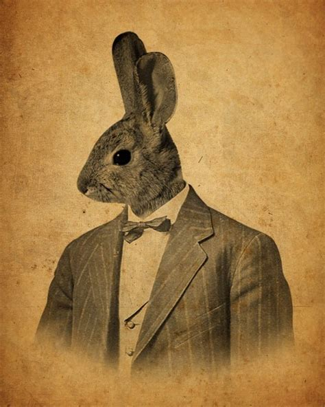 rabbit in woodworking luciusart rabbit in a suit portrait wood block print