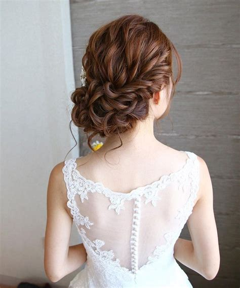 Wedding Hairstyles For Low Back Dresses by Beautiful Curl Low Updo Hairstyle For