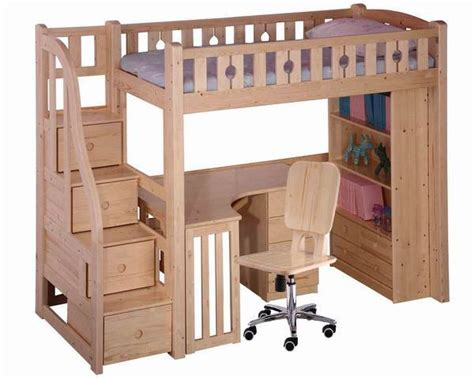 bunk bed desk combo wood bedroom loft bed desk combo with plain colour loft bed