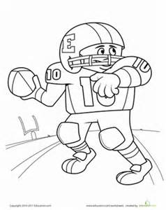 free coloring page of a football player football jersey coloring pages bestofcoloring com