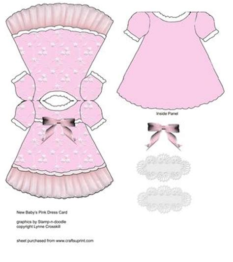baby dress printable card template baby dress card cup151429 866 craftsuprint